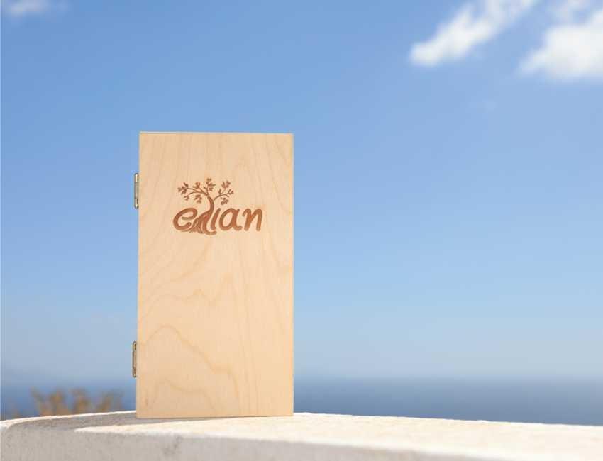 Ξύλινο Κουτί Δώρου Έλιαν εμπρόσθια όψη