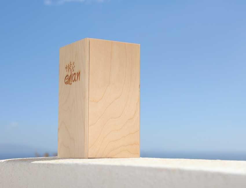 Ξύλινο Κουτί Δώρου Έλιαν πλάγια δεξιά όψη