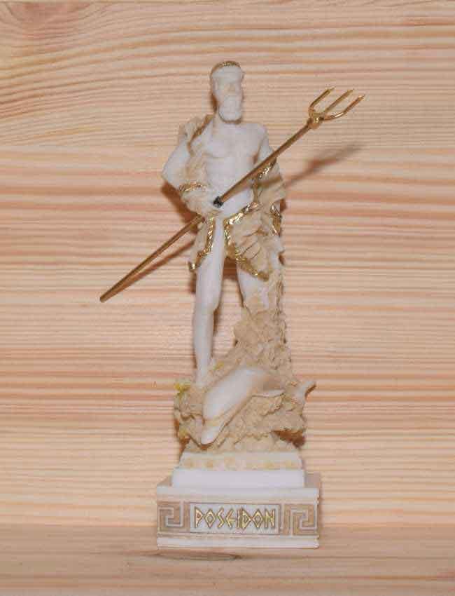Αρχαίο Ελληνικό Άγαλμα Ποσειδώνας χρυσό 1