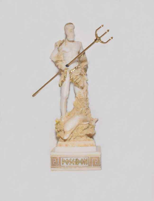 Αρχαίο Ελληνικό Άγαλμα Ποσειδώνας χρυσό