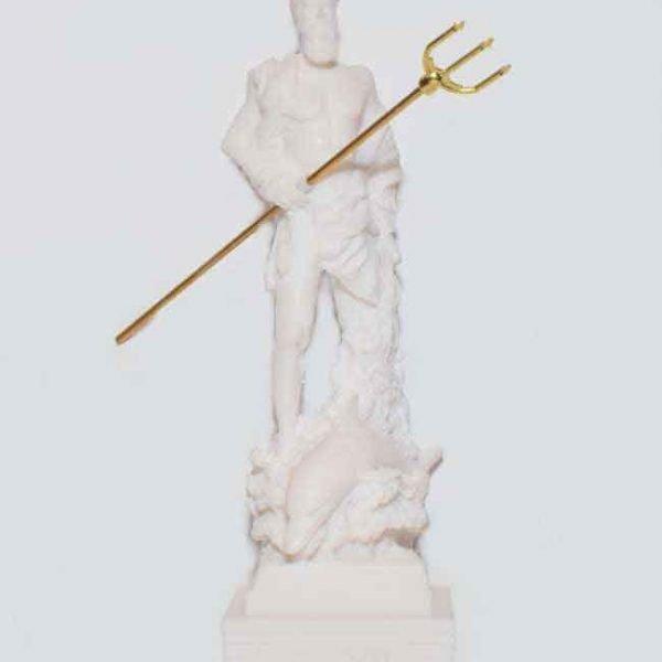 Αρχαίο Ελληνικό Άγαλμα Ποσειδώνας λευκό