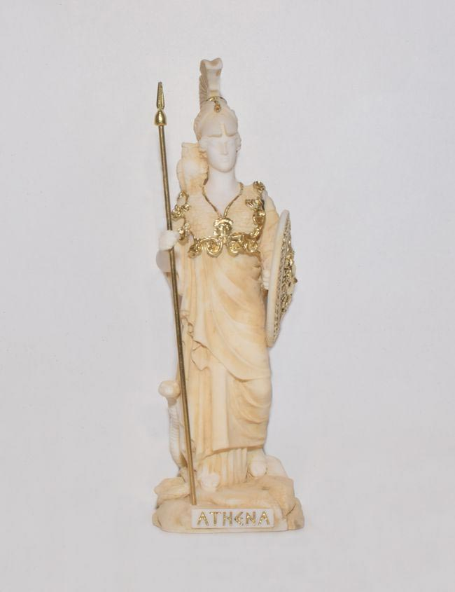 Αρχαίο Ελληνικό Άγαλμα Αθηνά χρυσό